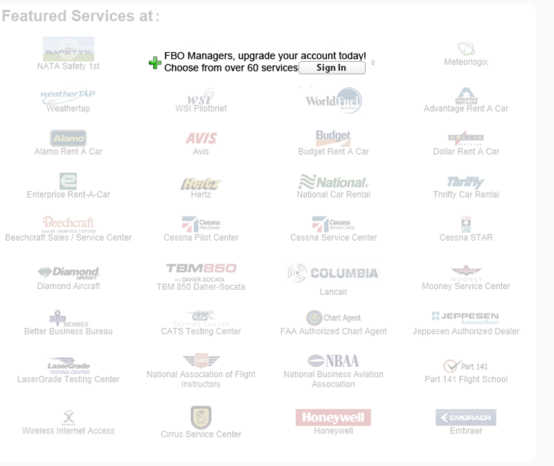 Aviation Express Inc. services are not listed